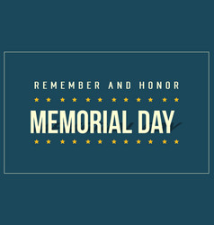 Background of memorial day style art vector