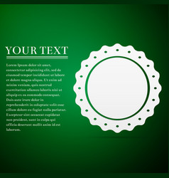quality emblem flat icon on green background vector image