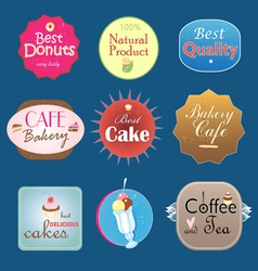 set of vintage label design bakery vector image