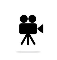 Camera icon on white background vector image