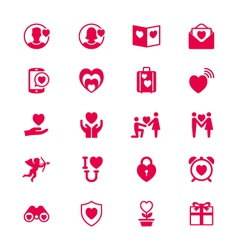 Valentines day flat icons vector