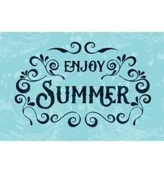Summer holidays typography for poster vector