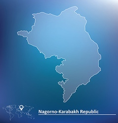 Map of nagorno-karabakh republic vector