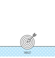 Target with arrow icon dart aim sign vector