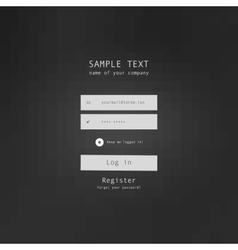 Login security form sample vector