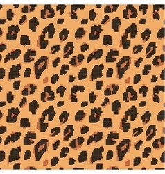 Print fur leopard dots pattern vector