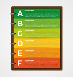 Modern design template infographic of notebook vector