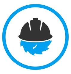 Circular blade safety icon vector