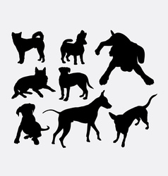 Dog pet animal silhouette 04 vector