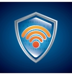 Shield icon security system design vector