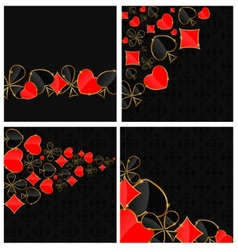Abstract background with card suits for design vector