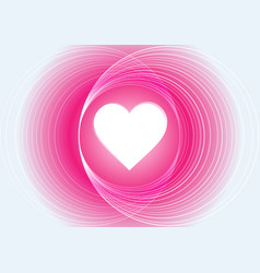 abstract pink light circle with heart background vector image