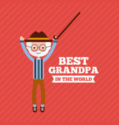 Best grandpa design vector
