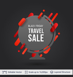 Black friday travel sale offer vector