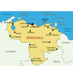 Bolivarian republic of venezuela - map vector
