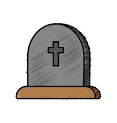 Cementery stone icon vector