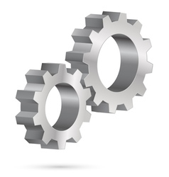 Chrome gearwheel vector image vector image