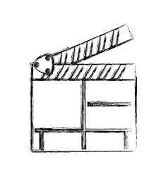 Cinema clapboard symbol vector