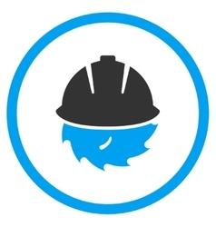 Circular blade safety icon vector