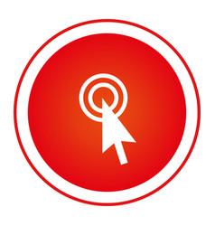 Color circular emblem with cursor icon vector