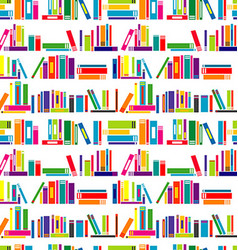 Colorful background with stylized books vector image vector image