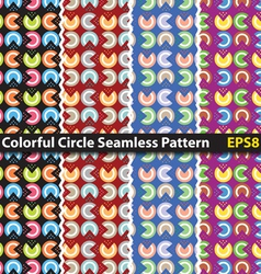 Colorful circle seamless pattern vector image