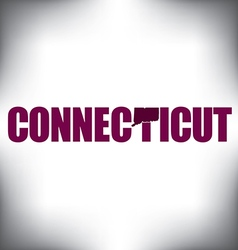 Connecticut state graphic vector image vector image