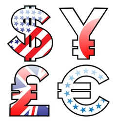 currencies signs vector image