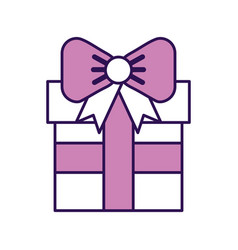 cute purple gift cartoon vector image