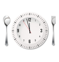 Cutlery with clock vector