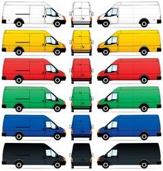 delivery vans set vector image