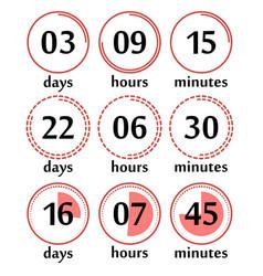 digital clock timer vector image