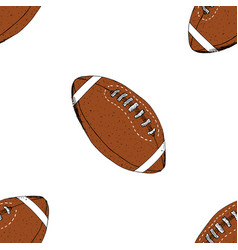 football rugby ball seamless pattern hand drawn vector image vector image