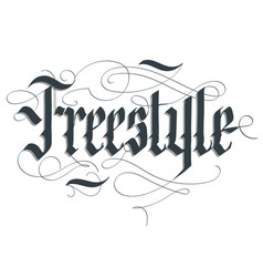 Freestyle lettering typography emblem extreme vector