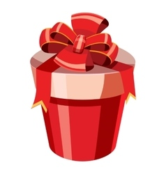 Gift box icon isometric 3d style vector image
