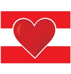 heart austria flagred heart vector image vector image