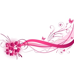 Hibiscus pink wave vector
