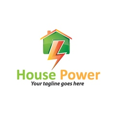 House Power Logo vector image vector image