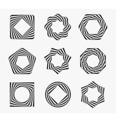 Line art modern label frames vector image