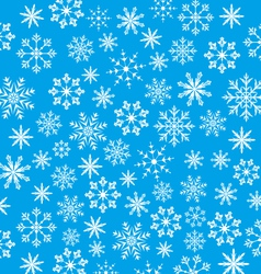 New Year blue wallpaper snowflakes texture - vector image vector image
