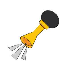 Old air horn vector