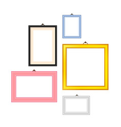 photo frames rectangle set vector image