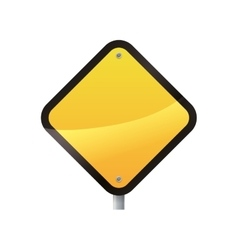 Road sign yellow warning icon graphic vector