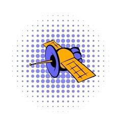 Satellite communications icon comics style vector