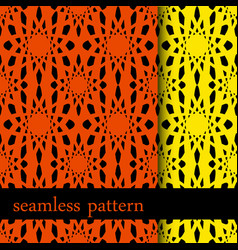 set of two seamless pattern with abstract flower vector image vector image