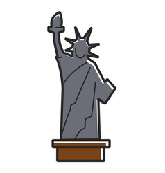 simple statue of liberty vector image vector image