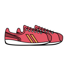 sneakers shoes icon image vector image vector image
