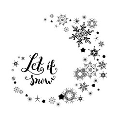 snow holiday lettering vector image