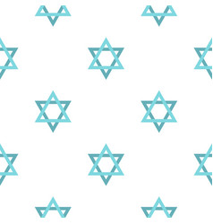 Star of david pattern flat vector