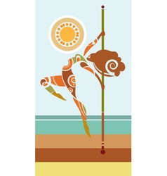 Tribal pole dancer vector